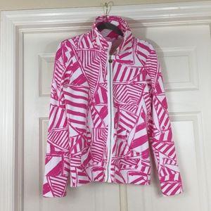 Lilly Pulitzer zip up sweatshirt Leona Yacht Sea
